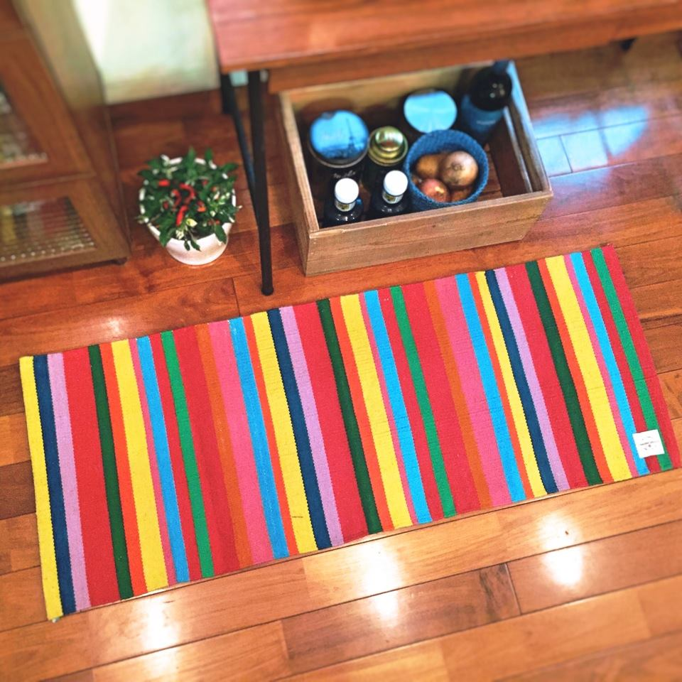 KITCHEN MAT MULTI STRIPE