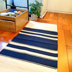 KITCHEN MAT INDIGO STRIPE