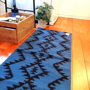 KITCHEN MAT AZTEC BLUE