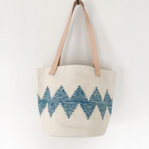 SHOULDER BAG ZIG ZAG BLUE