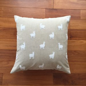 COTTON CUSHION COVER ALPACA BEIGE