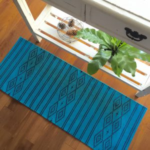KITCHEN MAT MOROCCAN BLUE