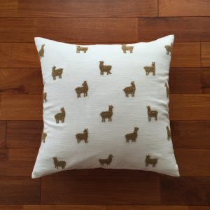 COTTON CUSHION COVER ALPACA WHITE